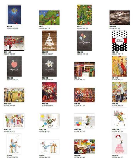 Image sur KIT24 | ENSEMBLE DE 192 CARTES DE SOUHAITS